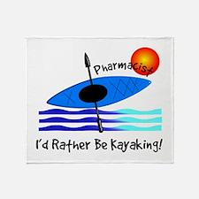 pharmacist kayaker.PNG Throw Blanket