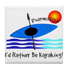pharmacist kayaker.PNG Tile Coaster