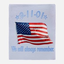 9/11 Tribute - Always Remember Throw Blanket