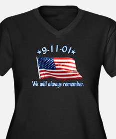9/11 Tribute - Always Remember Women's Plus Size V