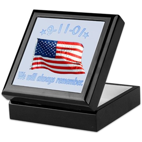 9/11 Tribute - Always Remember Keepsake Box