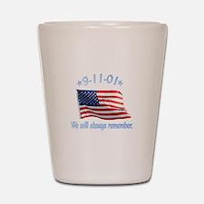 9/11 Tribute - Always Remember Shot Glass