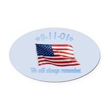 9/11 Tribute - Always Remember Oval Car Magnet