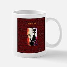 Funny Black Cat Diva Mug