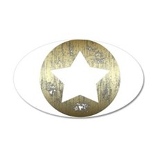 Distressed Vintage Star 3 Wall Decal
