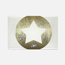 Distressed Vintage Star 3 Rectangle Magnet