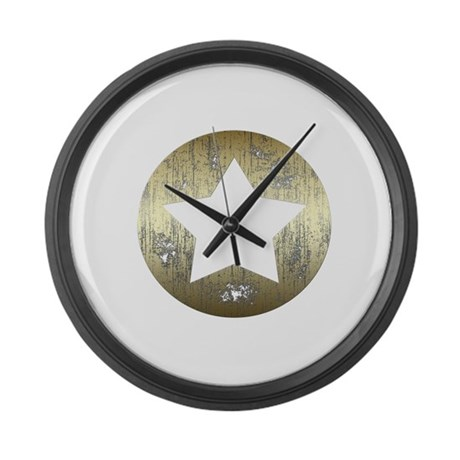 Distressed Vintage Star 3 Large Wall Clock By Eric Allen
