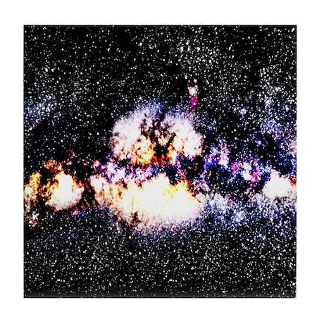 Fiery Galaxy Tile Coaster