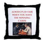 card game Throw Pillow