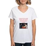 card game Women's V-Neck T-Shirt