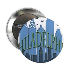 "Philly Skyline cool 2.25"" Button"