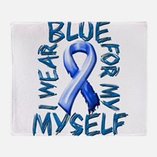 I Wear Blue for Myself.png Throw Blanket