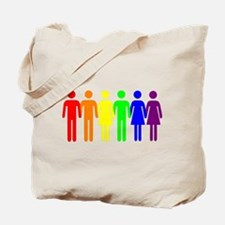 We Are Family Gay Pride Rainbow People Tote Bag