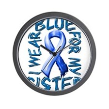 I Wear Blue for my Sister.png Wall Clock