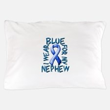 I Wear Blue for my Nephew.png Pillow Case