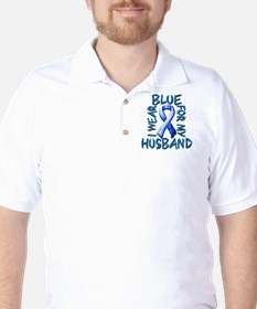 I Wear Blue for my Husband.png T-Shirt