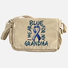 I Wear Blue for my Grandma.png Messenger Bag