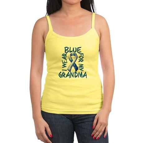 I Wear Blue for my Grandma.png Jr. Spaghetti Tank