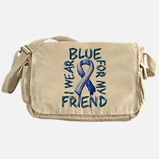 I Wear Blue for my Friend.png Messenger Bag