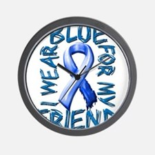 I Wear Blue for my Friend.png Wall Clock