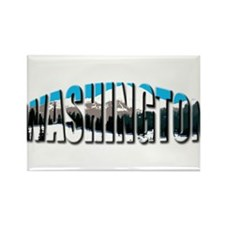 Washington clear Rainier Rectangle Magnet