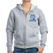 I Wear Blue for my Daughter.png Zip Hoodie