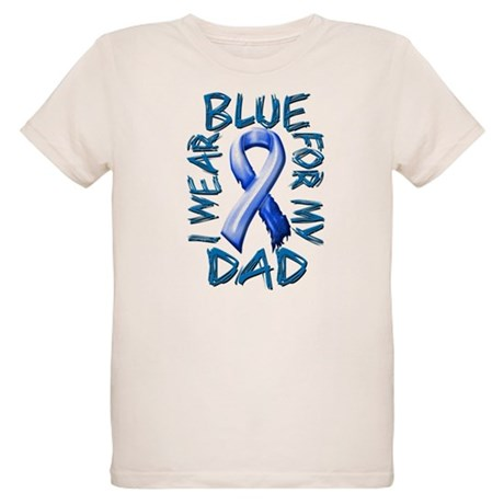 I Wear Blue for my Dad.png Organic Kids T-Shirt
