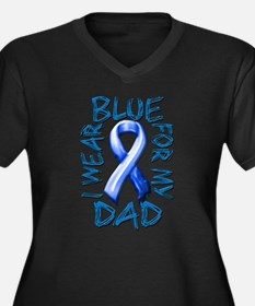 I Wear Blue for my Dad.png Women's Plus Size V-Nec