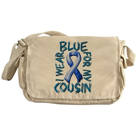 I Wear Blue for my Cousin.png Messenger Bag