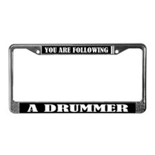 Drummer Percussion License Plate Frame