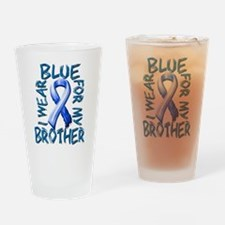 I Wear Blue for my Brother.png Drinking Glass
