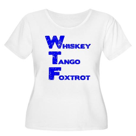 WTF Women's Plus Size Scoop Neck T-Shirt