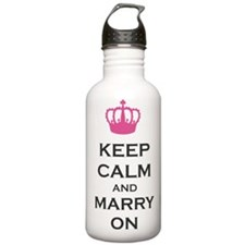 Keep Calm and Marry On Carry On Pink Crown Stainle