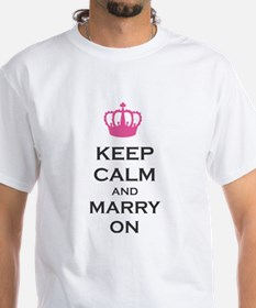 Keep Calm and Marry On Carry On Pink Crown Shirt