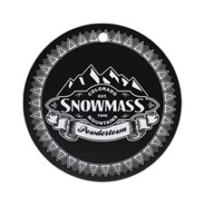 Snowmass Mountain Emblem Ornament (Round)