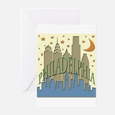 Philly Skyline beachy Greeting Cards (Pk of 10)