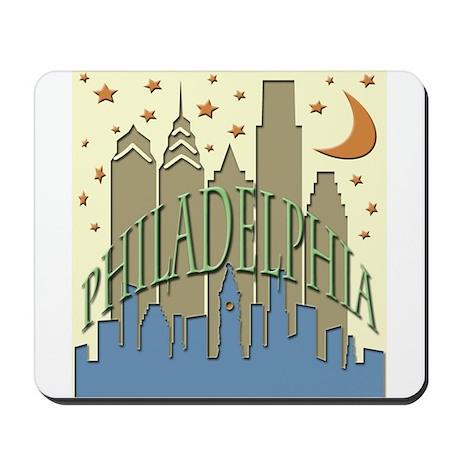 Philly Skyline beachy Mousepad