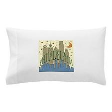 Philly Skyline beachy Pillow Case