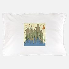 Philly Skyline beachy Pillow Case