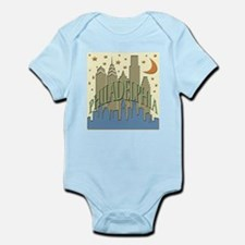 Philly Skyline beachy Infant Bodysuit