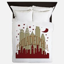 Philly skyline hot Queen Duvet