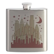 Philly skyline hot Flask