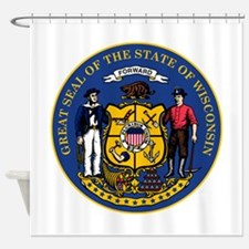 Wisconsin State Seal Shower Curtain