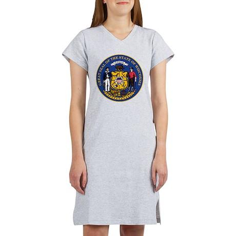 Wisconsin State Seal Women's Nightshirt