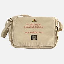 Two Dog Logo Messenger Bag