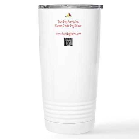 Two Dog Logo Stainless Steel Travel Mug