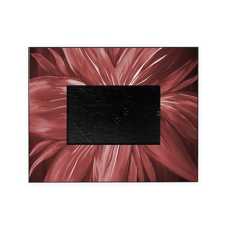 Modern Stylish Maroon Flower Picture Frame