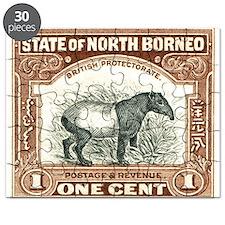 North Borneo Tapir Postage Stamp 1904 Puzzle