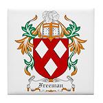Freeman Coat of Arms Tile Coaster
