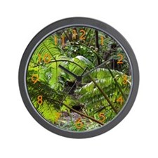 Rainforest Ferns - Wall Clock